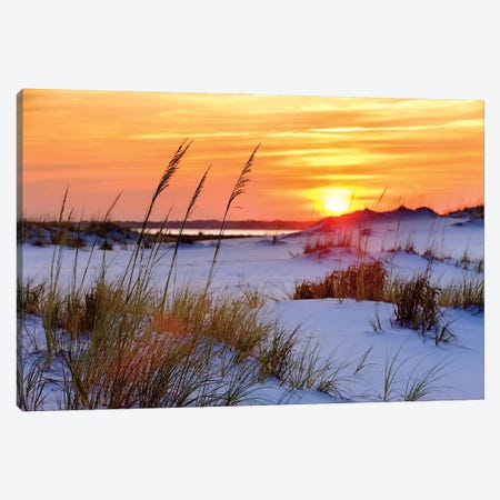 Seashore Sunset Canvas Print #MJO8} by Mike Jones Canvas Print