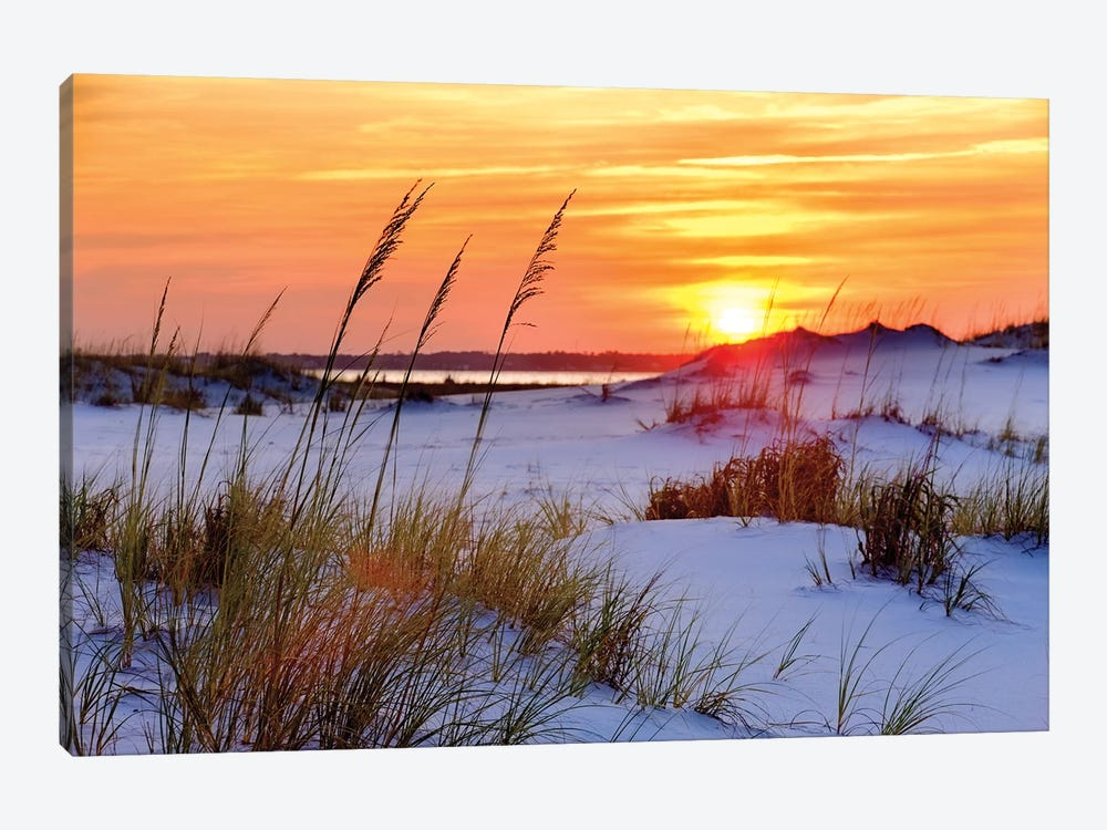 Seashore Sunset by Mike Jones 1-piece Canvas Print