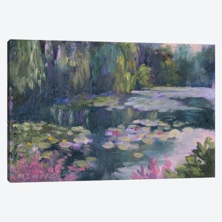 Monet's Garden II 3-Piece Canvas #MJW1} by Mary Jean Weber Canvas Wall Art