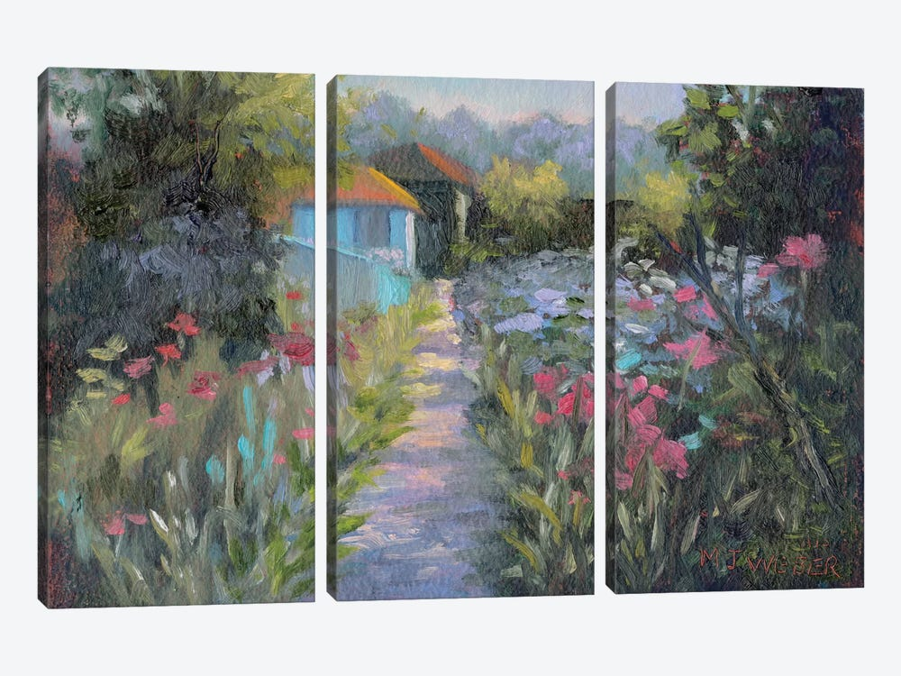 Monet's Garden V by Mary Jean Weber 3-piece Canvas Print