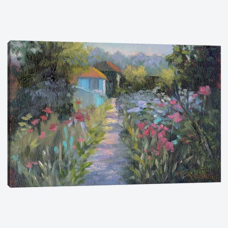 Monet's Garden V 3-Piece Canvas #MJW2} by Mary Jean Weber Canvas Art