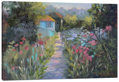 Monet's Garden V Canvas Art Print