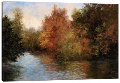 A Light On The Lake Canvas Art Print