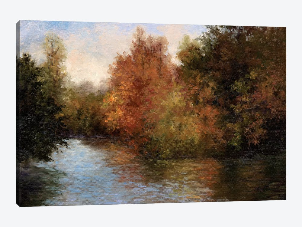 A Light On The Lake by Mary Jean Weber 1-piece Canvas Artwork