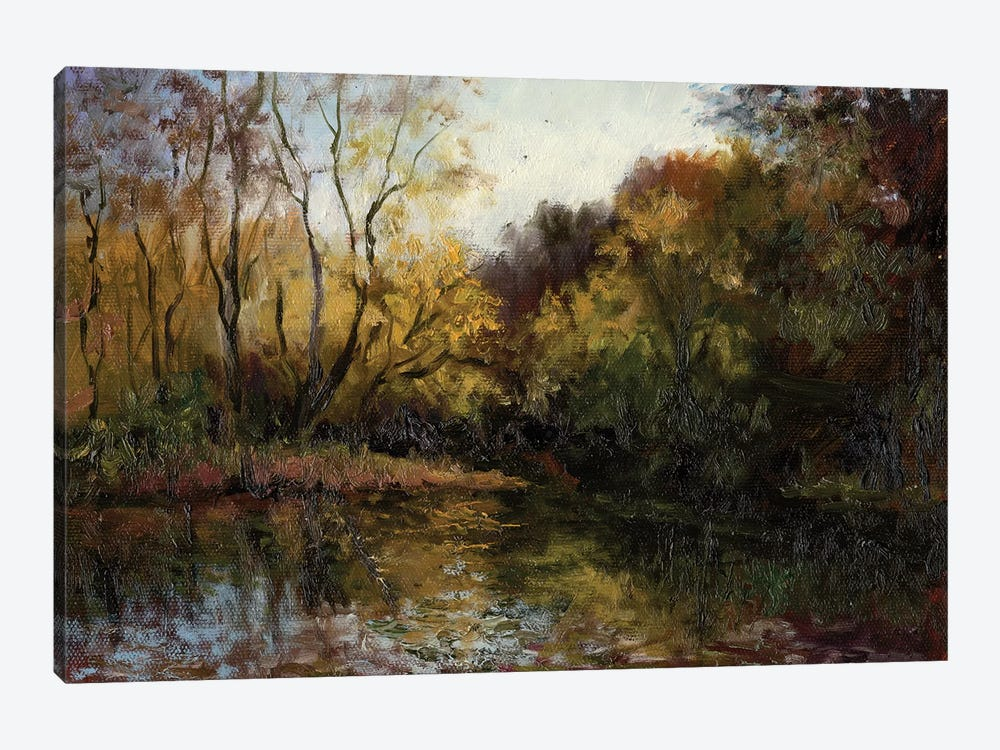 Bend In The River At Morrow by Mary Jean Weber 1-piece Canvas Print