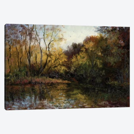 Bend In The River At Morrow 3-Piece Canvas #MJW4} by Mary Jean Weber Canvas Print