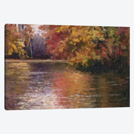 Shades Of Fall 3-Piece Canvas #MJW5} by Mary Jean Weber Art Print