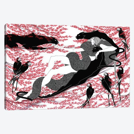 Bagreera Canvas Print #MKA3} by Marina Mika Canvas Artwork
