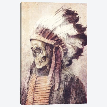 Chief Skull Canvas Print #MKB100} by Mike Koubou Canvas Wall Art