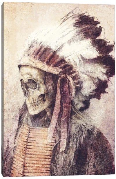 Chief Skull Canvas Art Print