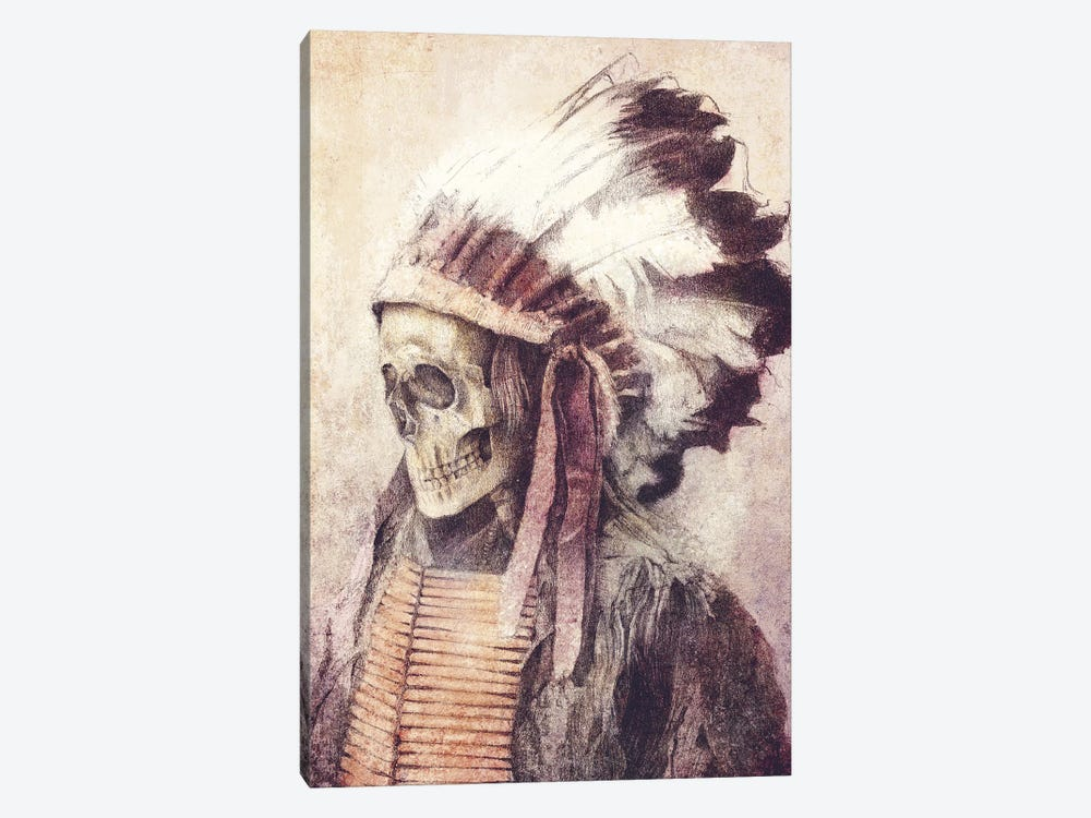 Chief Skull by Mike Koubou 1-piece Art Print