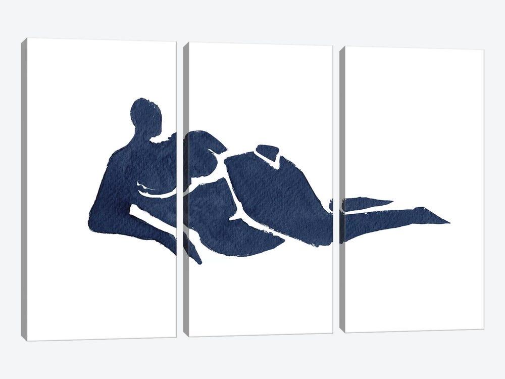 Lying Down by Mike Koubou 3-piece Canvas Art Print