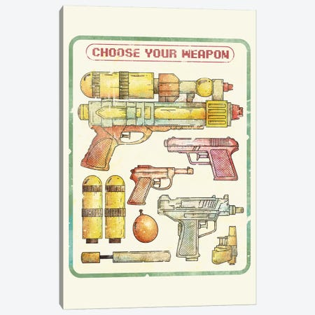 Choose Your Weapon Canvas Print #MKB10} by Mike Koubou Canvas Wall Art