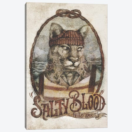 Salty Blood Canvas Print #MKB132} by Mike Koubou Canvas Print