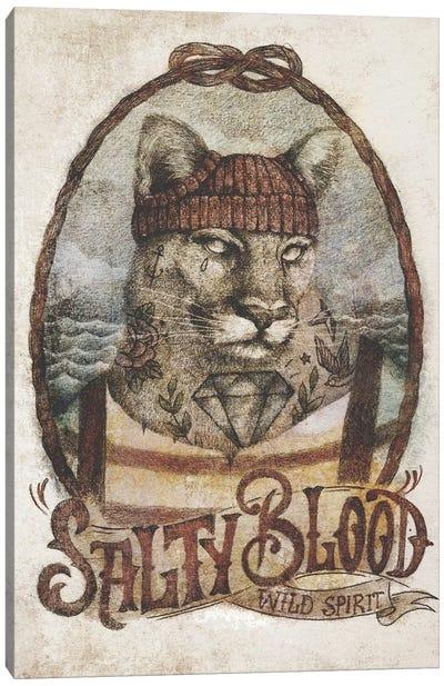 Salty Blood Canvas Art Print