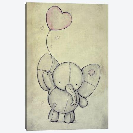 Cute Elephant With A Ballon Canvas Print #MKB14} by Mike Koubou Canvas Print