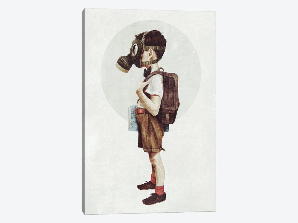 Back to school by Mike Koubou 1-piece Canvas Wall Art