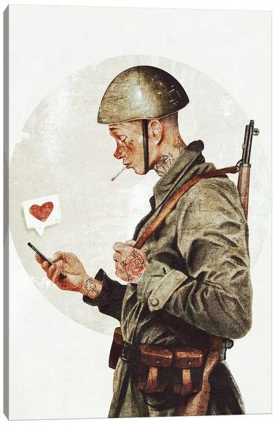 Not ready for war Canvas Art Print