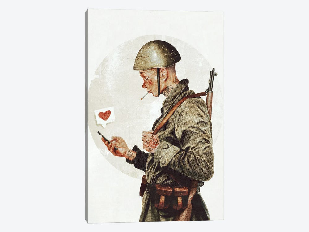 Not ready for war by Mike Koubou 1-piece Canvas Wall Art