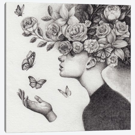 Flowers Canvas Print #MKB171} by Mike Koubou Canvas Art Print