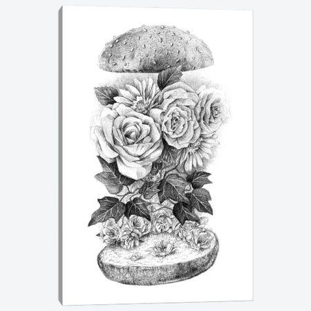 Flower Burger Canvas Print #MKB176} by Mike Koubou Canvas Art