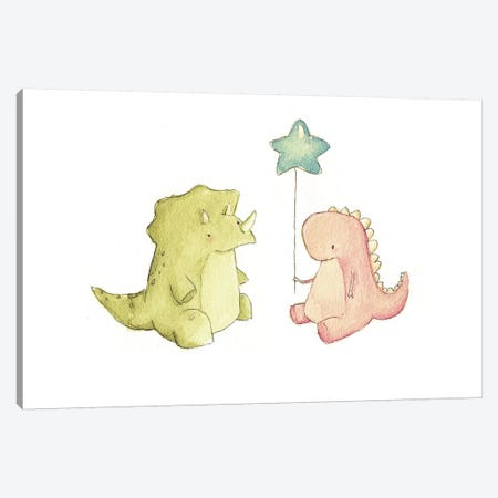 Dino Friends Canvas Print #MKB17} by Mike Koubou Art Print