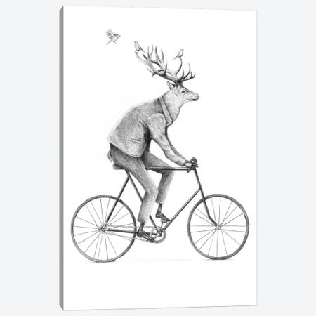 Even A Gentleman Rides Canvas Print #MKB22} by Mike Koubou Art Print