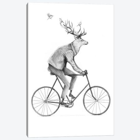 Even A Gentleman Rides Canvas Print #MKB22} by Mike Koubou Art Print