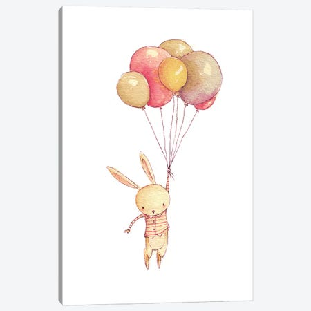 Flying Bunny Canvas Print #MKB24} by Mike Koubou Canvas Artwork