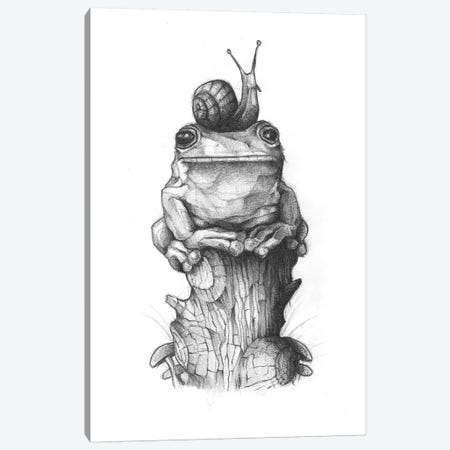 Frog And Snail II Canvas Print #MKB26} by Mike Koubou Canvas Artwork