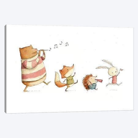 Happy Friends Canvas Print #MKB28} by Mike Koubou Canvas Art Print