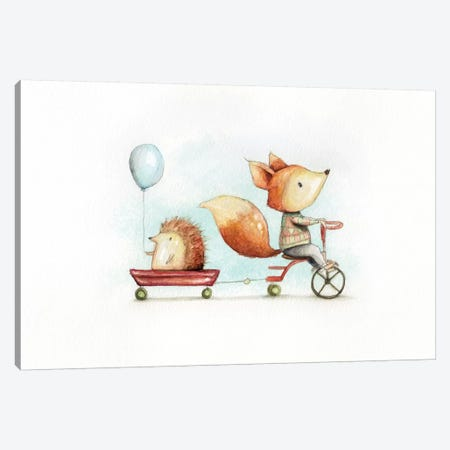Best Friends Canvas Print #MKB2} by Mike Koubou Art Print