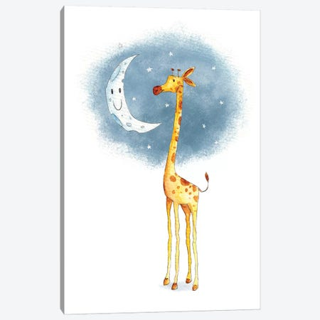 Hello Moon Canvas Print #MKB30} by Mike Koubou Canvas Art