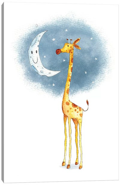 Hello Moon Canvas Art Print