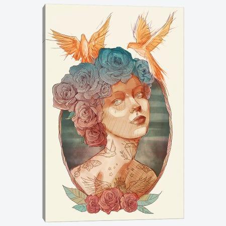 Lady Canvas Print #MKB38} by Mike Koubou Canvas Artwork