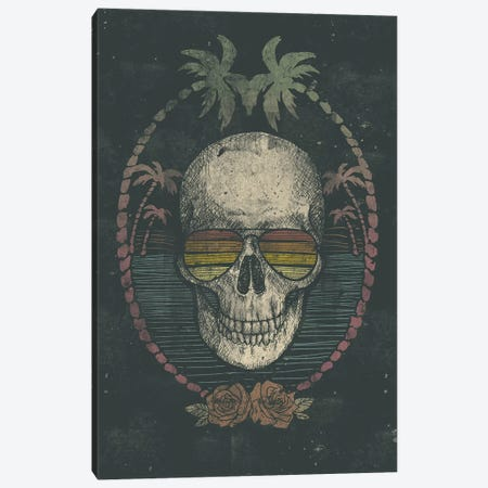 Palm Skull Canvas Print #MKB47} by Mike Koubou Canvas Art