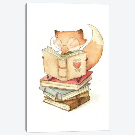 Book Lover Canvas Print #MKB4} by Mike Koubou Canvas Wall Art