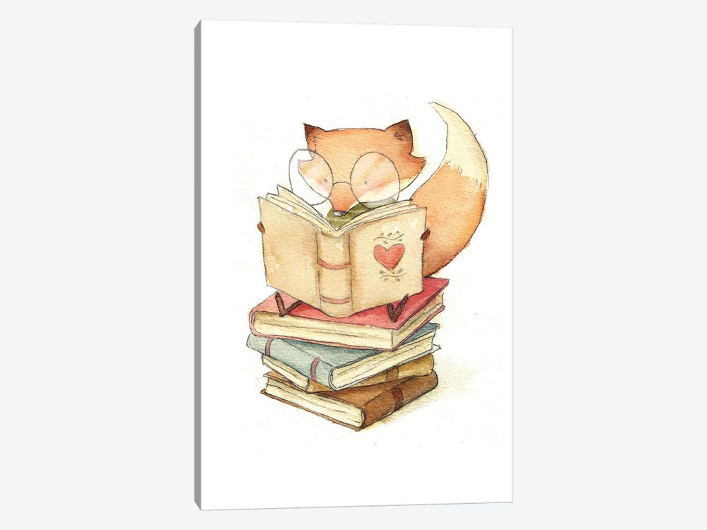 Book Lover by Mike Koubou 1-piece Canvas Print