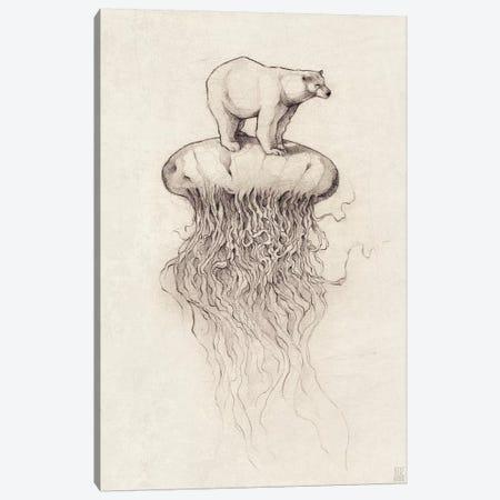 Polar Bear And Jellyfish I Canvas Print #MKB51} by Mike Koubou Canvas Wall Art