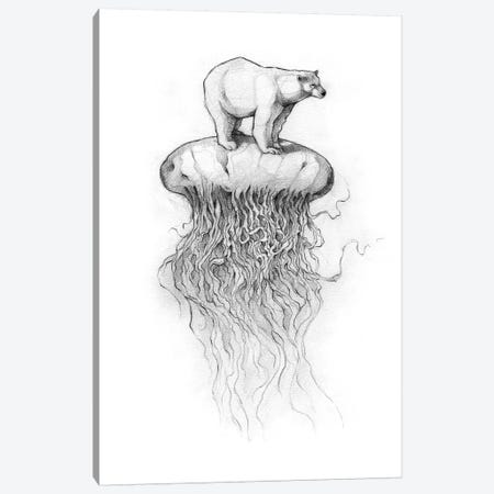 Polar Bear And Jellyfish II Canvas Print #MKB52} by Mike Koubou Canvas Wall Art