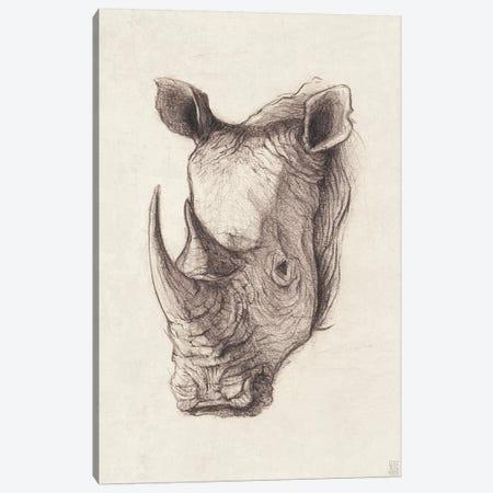 Rhinoceros I Canvas Print #MKB55} by Mike Koubou Canvas Print