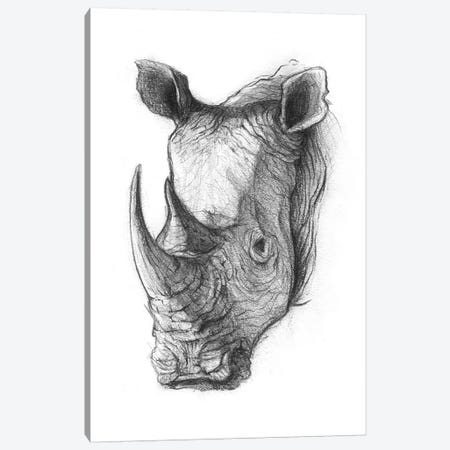 Rhinoceros V Canvas Print #MKB56} by Mike Koubou Canvas Print