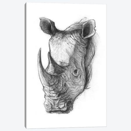 Rhinoceros V Canvas Print #MKB56} by Mike Koubou Canvas Print