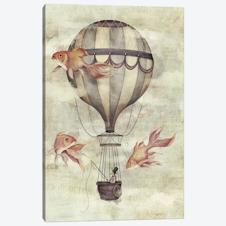 Skyfisher Canvas Print #MKB59} by Mike Koubou Canvas Artwork