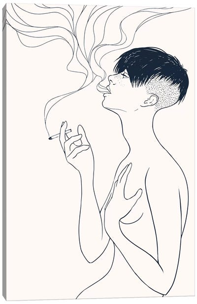Smoking Canvas Art Print