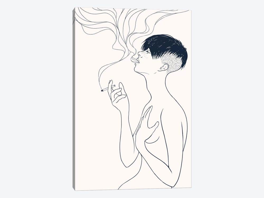 Smoking by Mike Koubou 1-piece Canvas Print