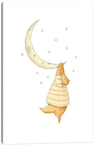Stuck On The Moon I Canvas Art Print