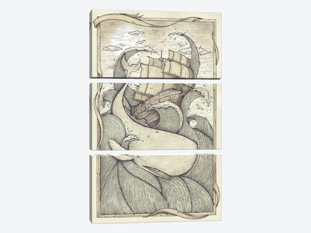 The Battle by Mike Koubou 3-piece Canvas Print