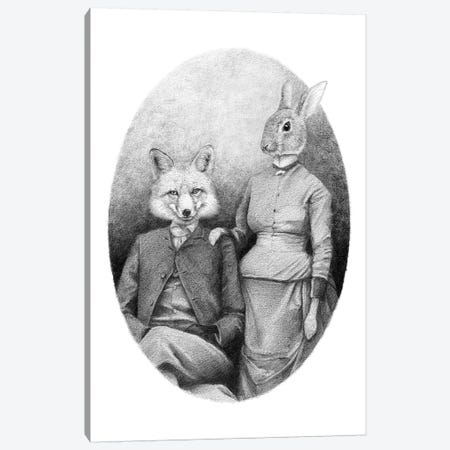The Foxes Canvas Print #MKB65} by Mike Koubou Canvas Artwork