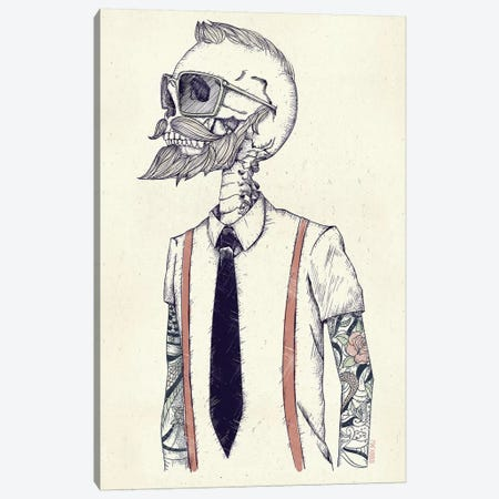 The Gentleman Becomes A Hipster Canvas Print #MKB66} by Mike Koubou Canvas Artwork